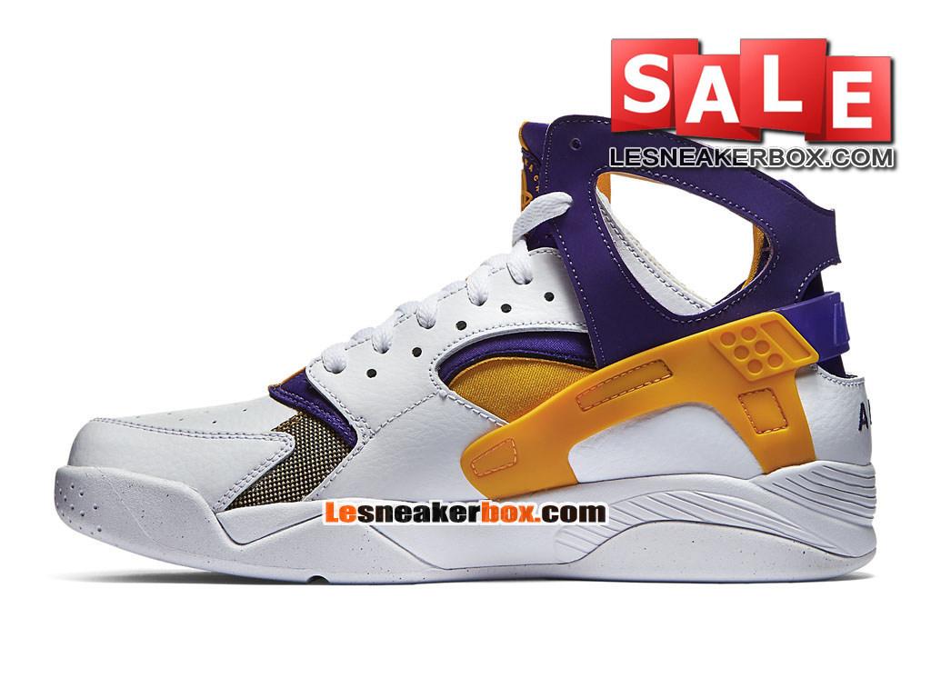 separation shoes 01e5e f29f4 ... Nike Air Flight Huarache - Men´s Nike Basketball Shoe White Court  Purple  ...
