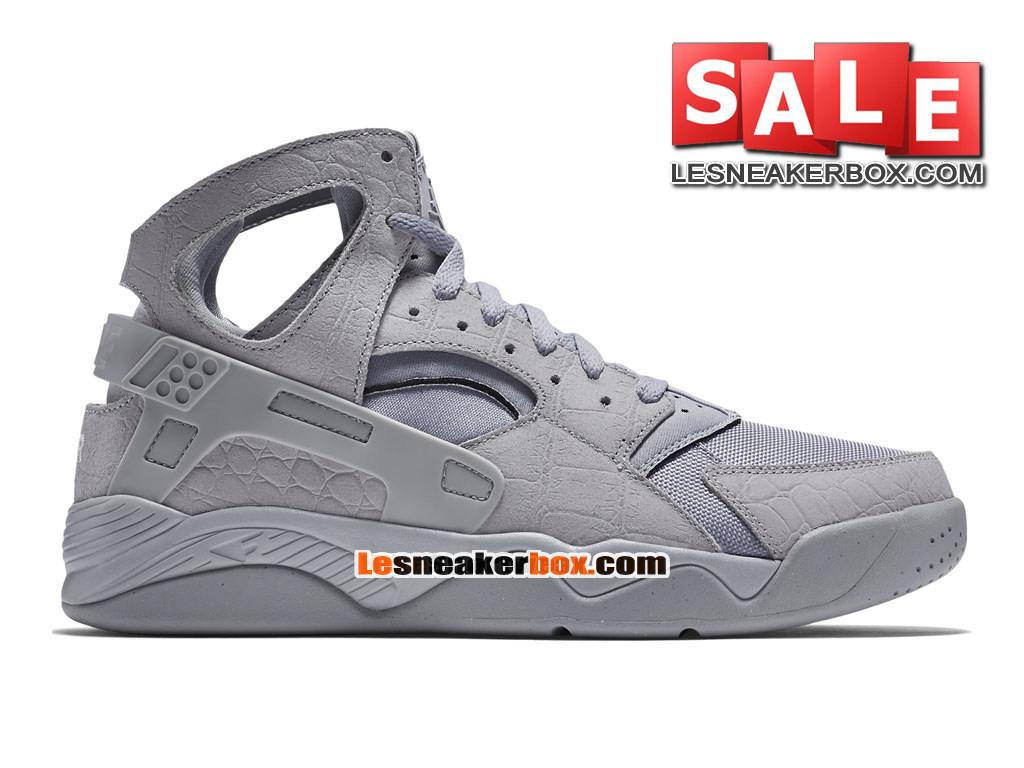 newest 472f5 db6e7 Nike Air Flight Huarache - Chaussure de Nike Basket-ball Pour Homme Gris  loup  ...
