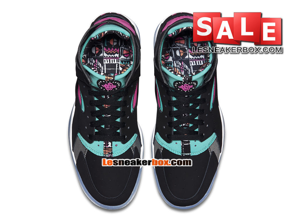 the latest 1be88 cab67 ... Nike Air Flight Huarache - Men´s Nike Basketball Shoe Black Pink Pow   ...