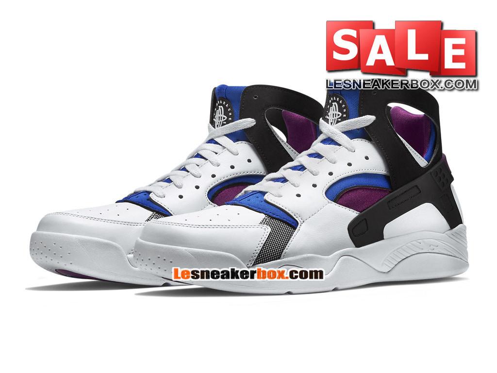 8728155d3bc03 ... Nike Air Flight Huarache Premium - Chaussure de Nike Basket-ball Pour  Homme Blanc/ ...