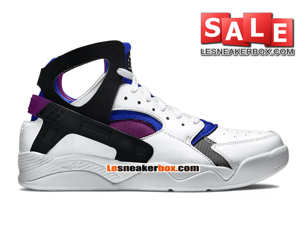 1689b507a1a84 Nike Air Flight Huarache Premium - Men´s Nike Basketball Shoe White Lyon  Blue
