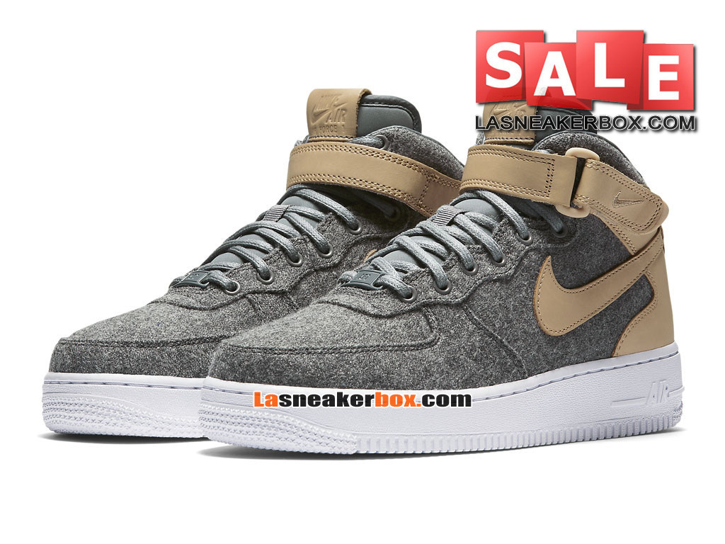 ... Nike Air Force 1 ´07 Mid Leather Premium - Chaussure Nike Sportswear Pas Cher Pour ...