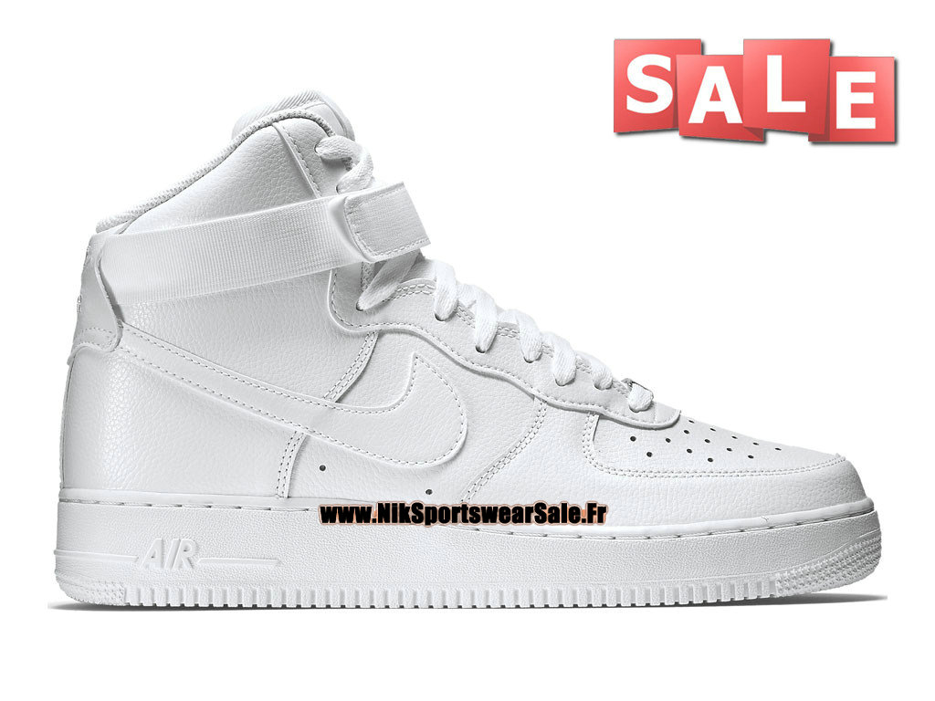 Nike Air Force 1 High 07 - Chaussure Nike Mi-Montante Pas Cher Pour Homme Blanc 315121-115