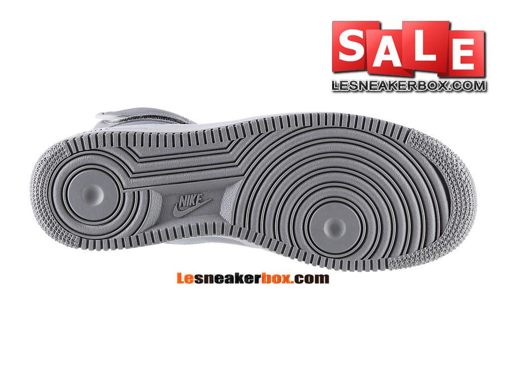 promo code c424f 7a8f7 ... Nike Air Force 1 Suede Hi - Chaussure Nike Montante Pas Cher Pour Homme  Gris neutre