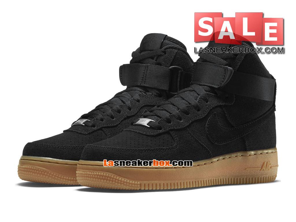 reputable site 3ae78 c9d14 ... Nike Air Force 1 Suede Hi - Chaussure Nike Montante Pas Cher Pour Homme  Noir/ ...