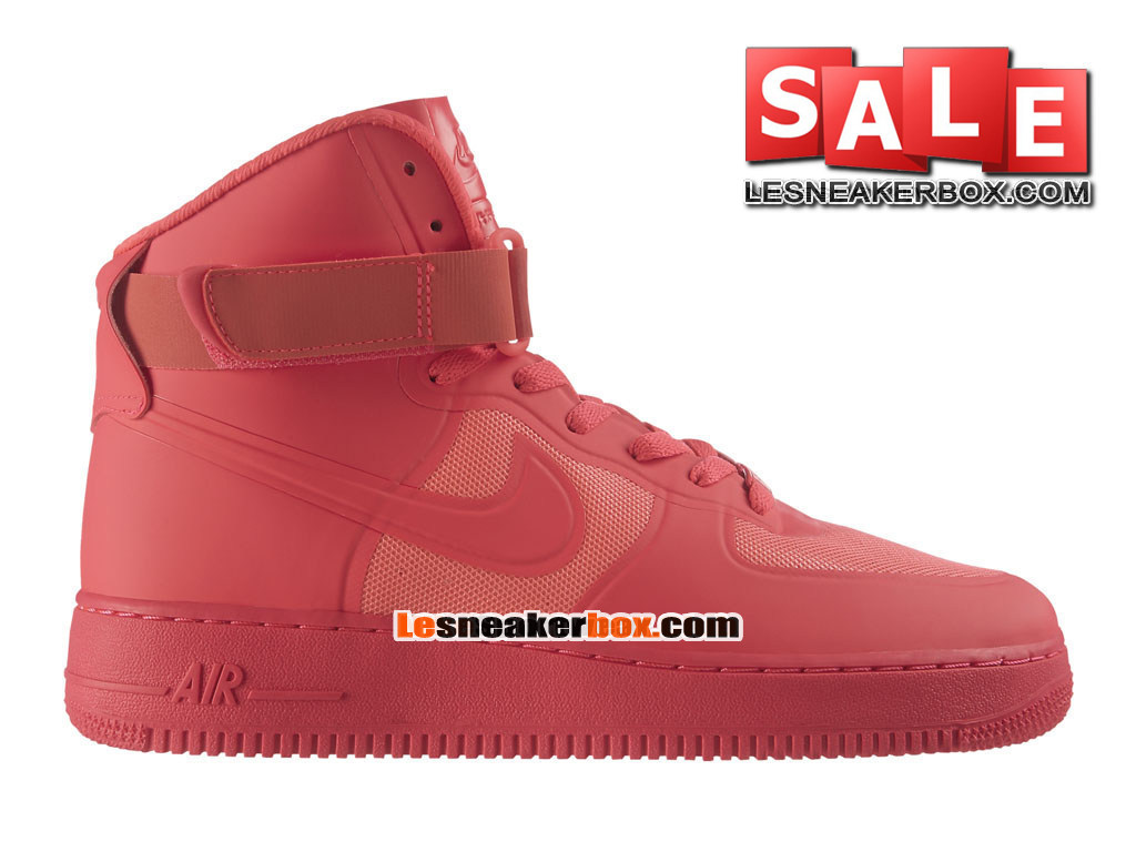 Nike Air Force 1 Suede Hi - Chaussure Nike Montante Pas Cher Pour Homme Rouge Solaire/Rouge Solaire 454433-600H
