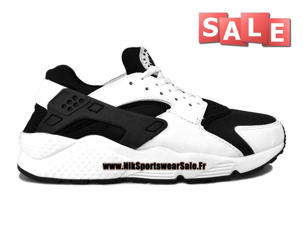 check out 52e73 92cbc Nike Air Huarache - Chaussures Nike Officiel Pas Cher Pour Homme Blanc Noir  318429- ...