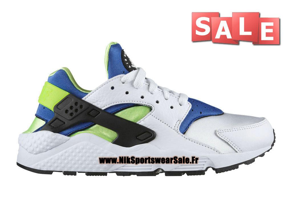 promo code a17f5 30b3c Nike Air Huarache - Chaussures Nike Officiel Pas Cher Pour Homme  Blanc Scream Vert  ...