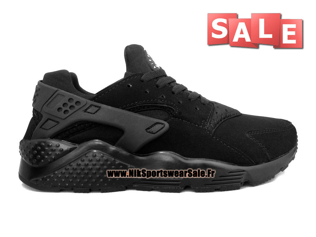 7e8a328425 Nike Air Huarache - Chaussures Nike Officiel Pas Cher Pour Homme Toute Noir  318429-001 ...