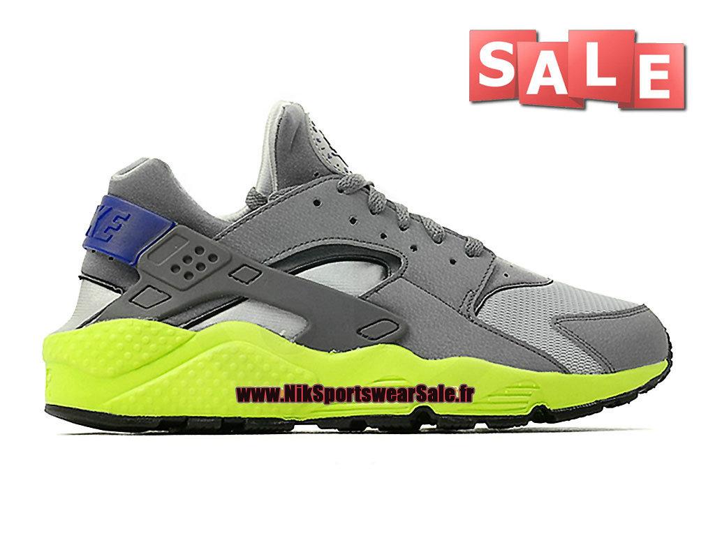 huge selection of 93674 4fe16 Nike Air Huarache GS - Chaussure Nike Sportswear Pas Cher Pour Femme Enfant  Gris loup ...