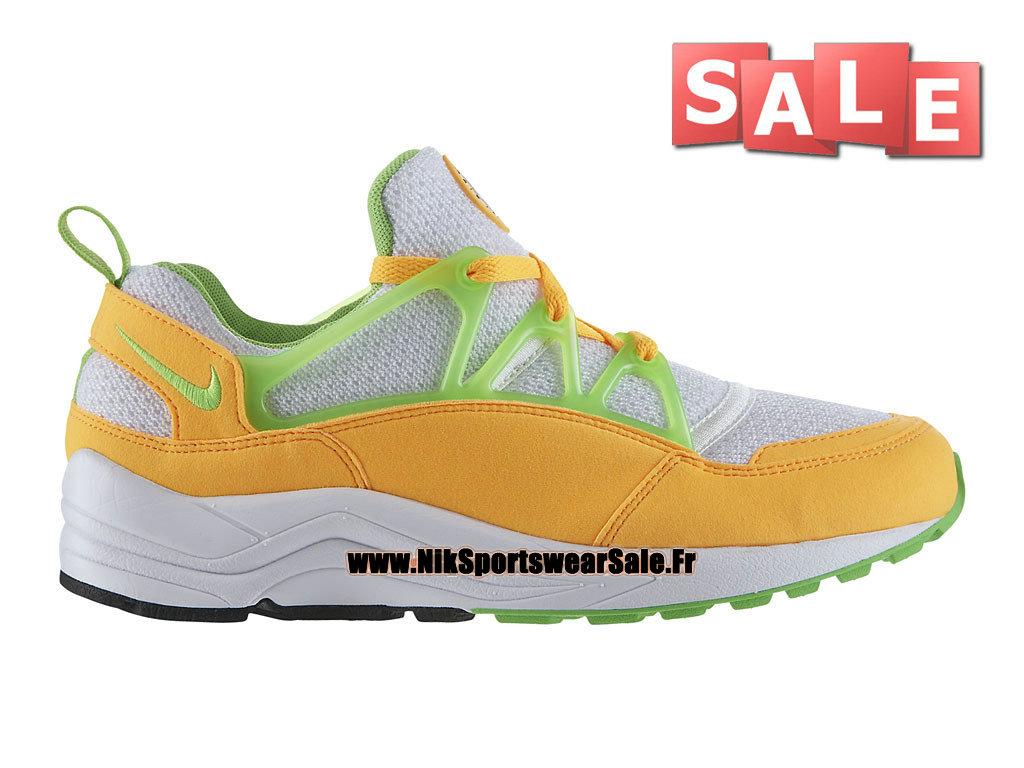 hot sale online 3f118 9971a Nike Air Huarache Light - Chaussures Nike Officiel Pas Cher Pour Homme  Mangue atomique Blanc ...