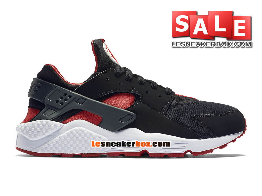 buy online 6edb4 b78c5 Nike Air Huarache Run - Men´s Nike Sportswear Shoe Black University Red
