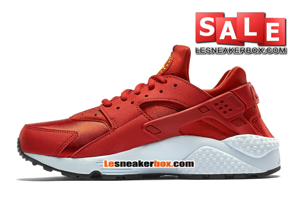 nike air huarache run chaussure nike sportswear pas cher pour homme rouge cinabre fibre de. Black Bedroom Furniture Sets. Home Design Ideas