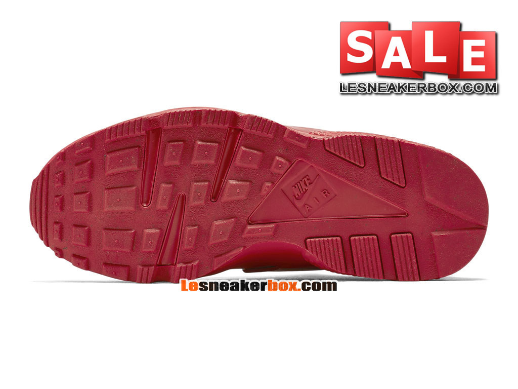 Nike Air Huarache Run - Chaussure Nike Sportswear Pas Cher Pour Homme Rouge intense/Rouge intense/Rouge intense 318429-660