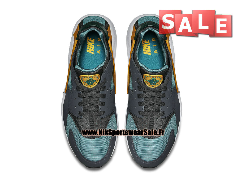 Nike Air Huarache Run - Chaussures Nike Officiel Pas Cher Pour Homme Catalina/University Gold-Anthracite 318429-307