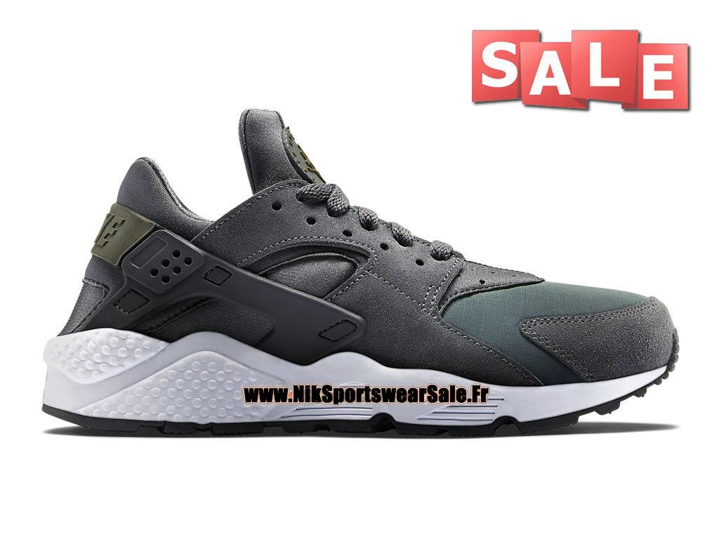 reputable site 175d1 41d61 Nike Air Huarache Run - Chaussures Nike Officiel Pas Cher Pour Homme Gris  foncé/Dark