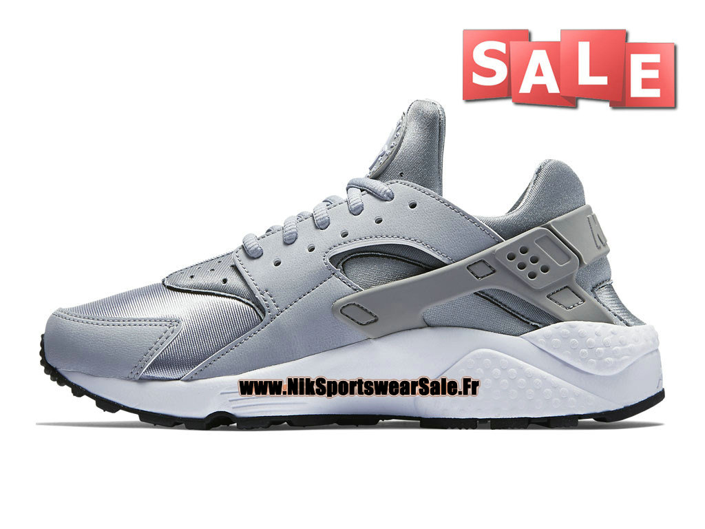 sports shoes e0233 fe0da ... Nike Air Huarache Run - Men´s Nike Officiel Shoes Wolf Grey White- ...