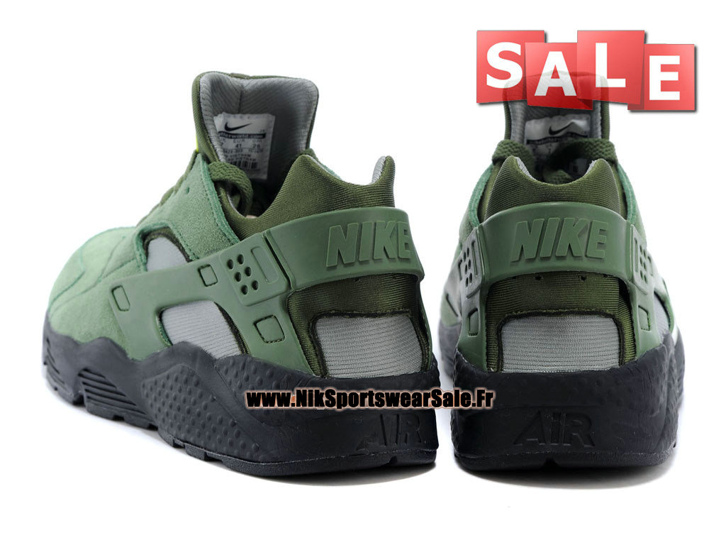 super popular 75ab0 34d8d ... Nike Air Huarache Run - Chaussures Nike Officiel Pas Cher Pour Homme  Kaki cargo Séquoia