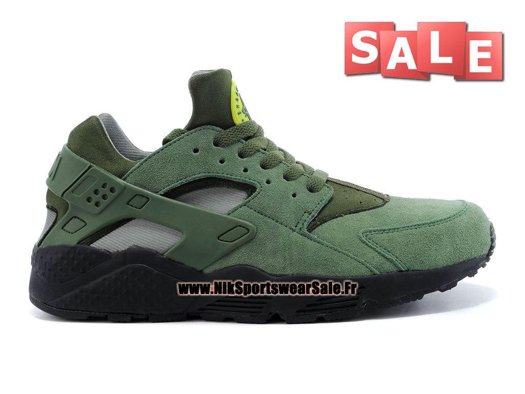 new concept daf55 fd88f Nike Air Huarache Run - Chaussures Nike Officiel Pas Cher Pour Homme Kaki  cargo Séquoia ...