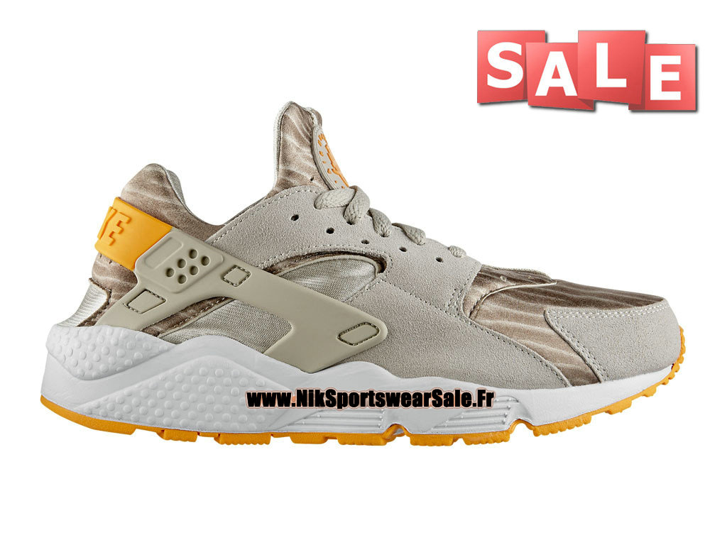 Nike Air Huarache Run - Chaussures Nike Officiel Pas Cher Pour Homme Light Beige Chalk/Mangue atomique 318429-280