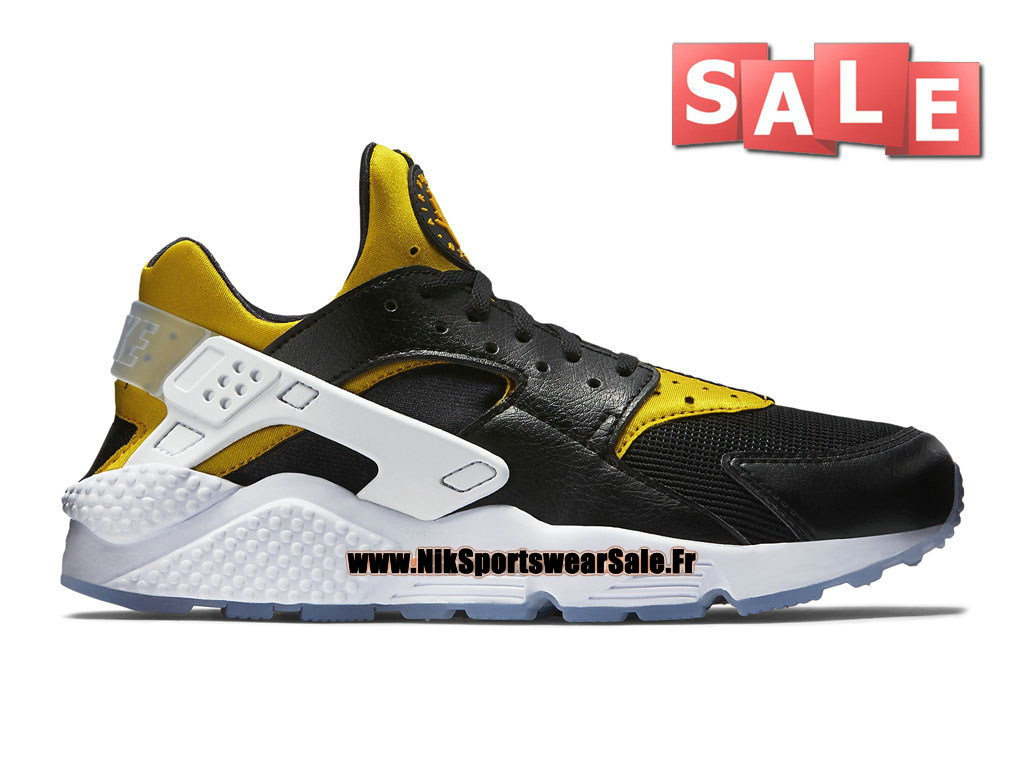 "Nike Air Huarache Run Premium ""Berlin"" City Pack - Chaussure Nike Officiel Pas Cher Pour Homme Noir/Or université 704830-080"