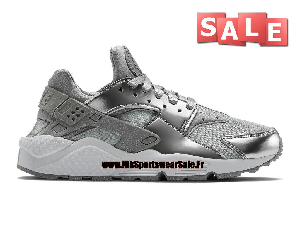 reputable site 1c699 65c03 Nike Air Huarache Run Premium - Chaussure Nike Officiel Pas Cher Pour Homme  Argent métallique/