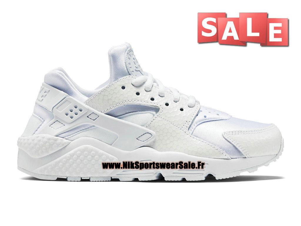 separation shoes 0dc24 051d5 Nike Air Huarache Run Premium - Chaussures Nike Officiel Pas Cher Pour Homme  Blanc 683818-