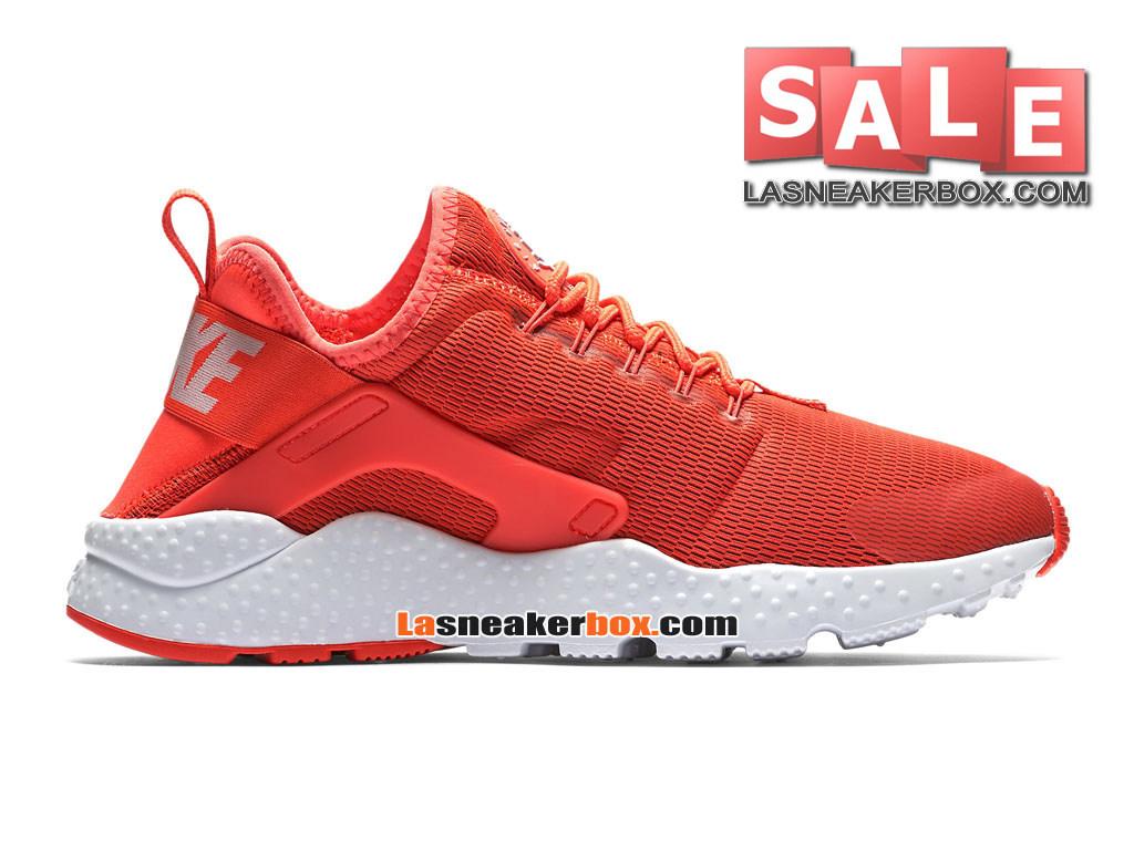 best service 26e66 460fe Nike Air Huarache Ultra Breathe - Chaussures Nike Pas Cher Pour Homme  Cramoisi brillant Blanc ...