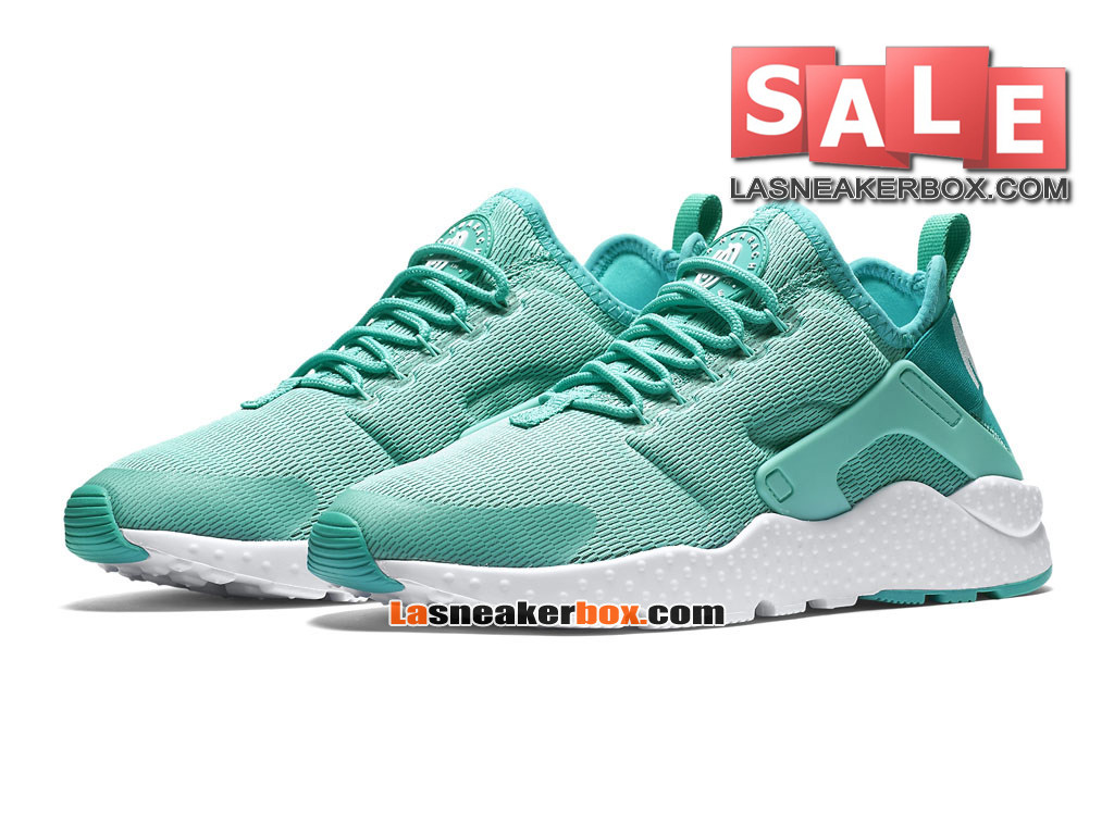 Nike Air Huarache Ultra Breathe - Chaussures Nike Pas Cher Pour Homme Hyper turquoise/Blanc/Blanc 819151-300H