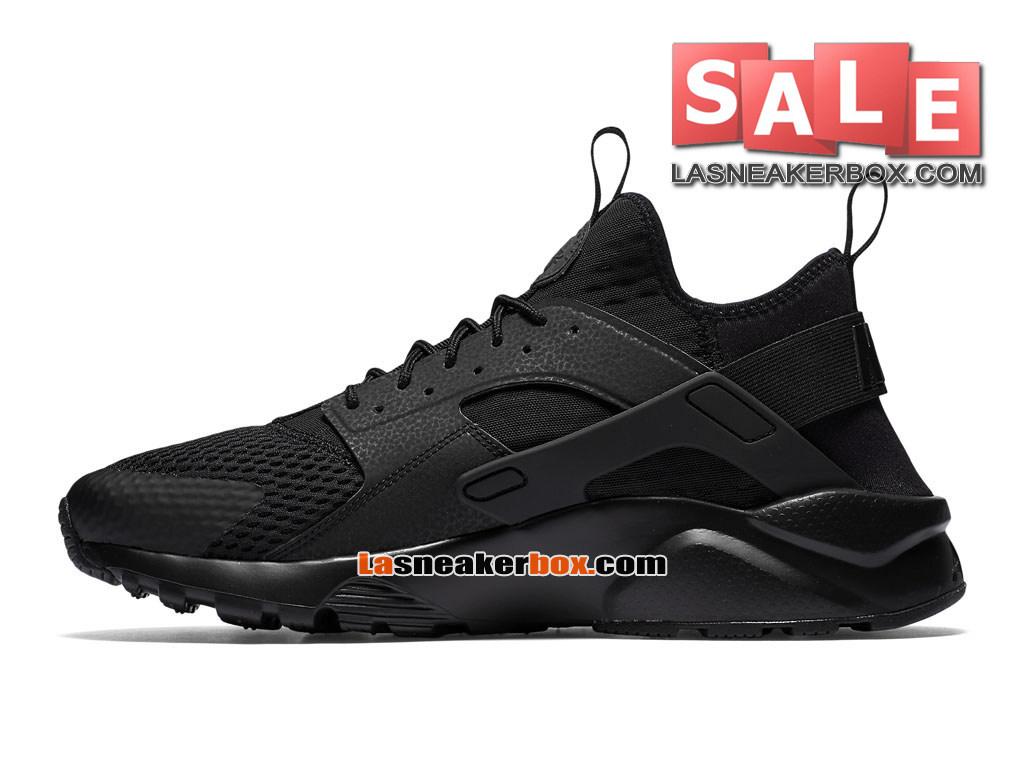 los angeles e53c7 775c7 ... Nike Air Huarache Ultra Breathe - Chaussures Nike Pas Cher Pour Homme  NoirNoir 833147 ...