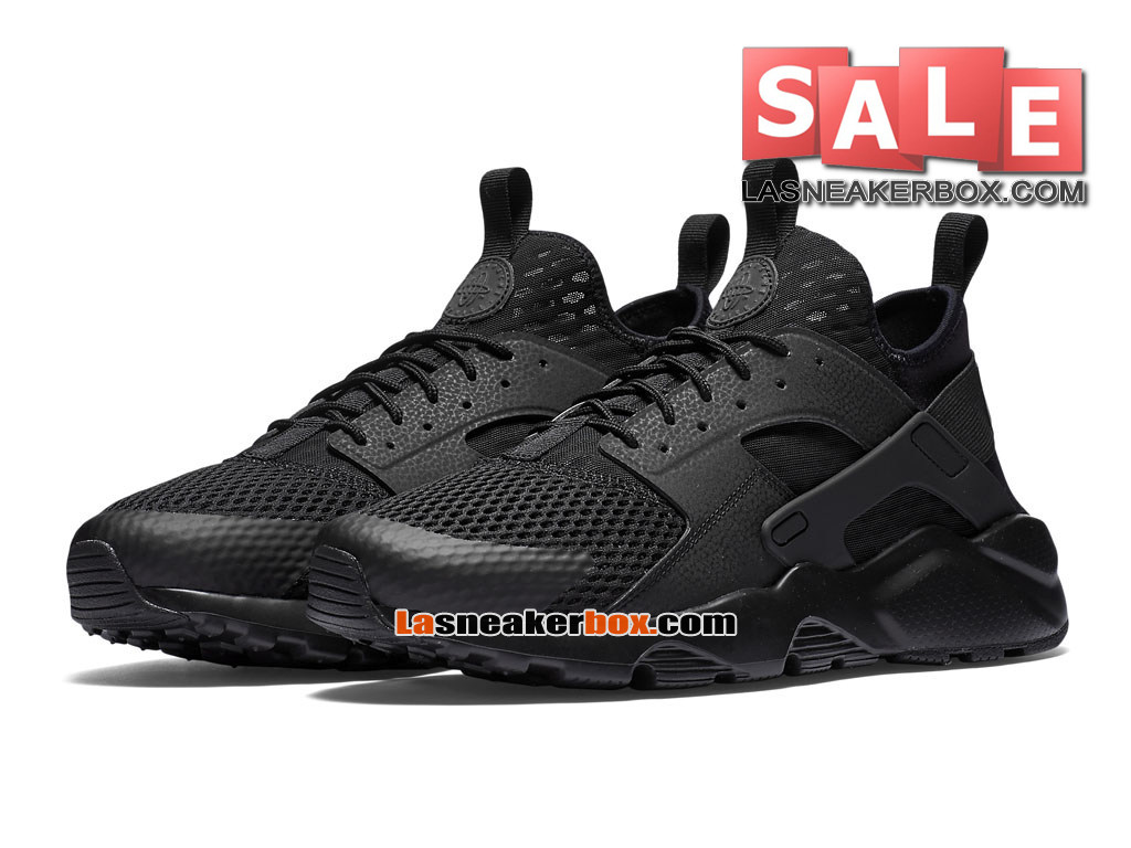 34e56a430a52 ... Nike Air Huarache Run Suede - Men´s Nike Sportswear Shoe Black Black  833147 ...