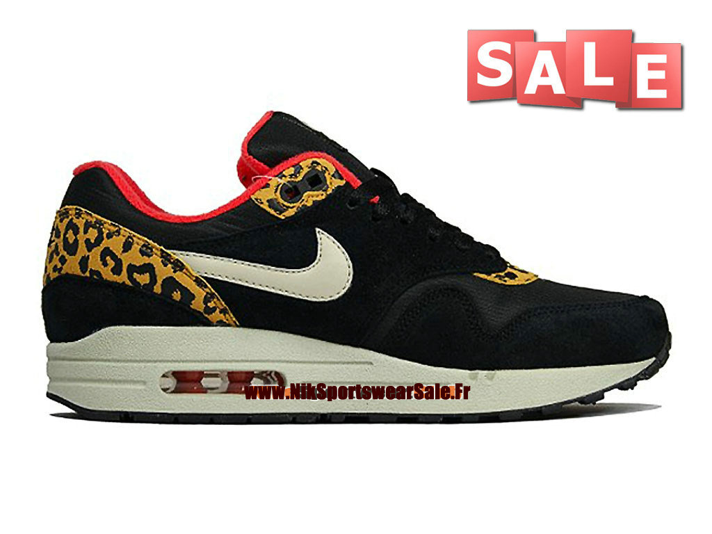 Women's Nike Wmns Air Max 1 Leopard Pack Black Sandtrap Gold Leaf Sneakers : F94e4431