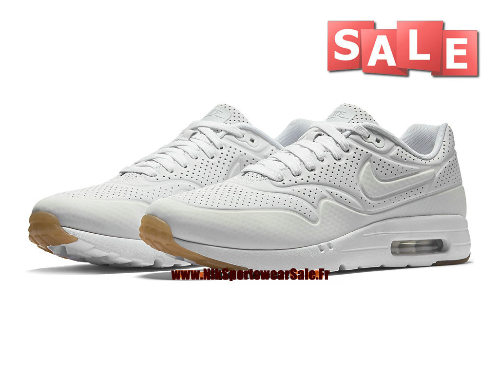 Nike Air Max 1 Ultra Moire - Chaussure Nike Sportswear Pas Cher Pour Homme Blanc 705297-111