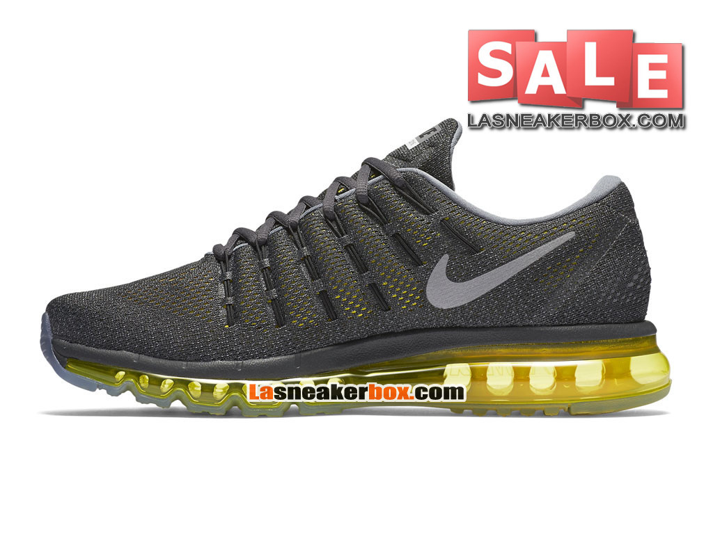 ... Nike Air Max 2016 - Chaussure Nike Running Pas Cher Pour Homme Anthracite/Bleu- ...