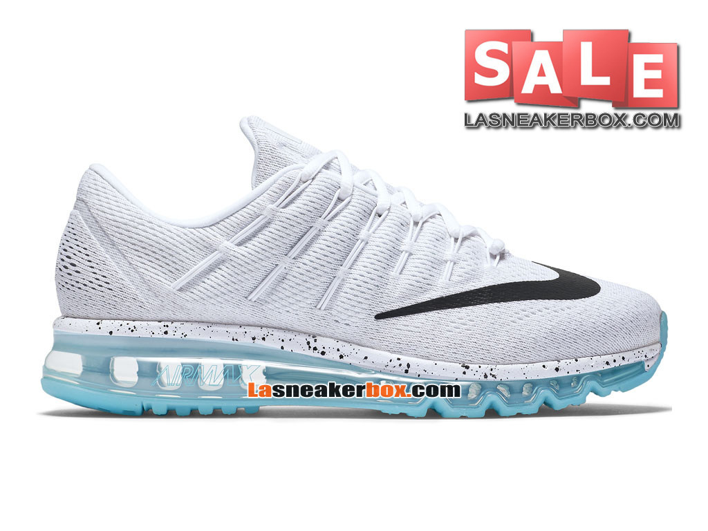 reputable site 3fca1 3166b Nike Air Max 2016 - Chaussure Nike Running Pas Cher Pour Homme Blanc Bleu  céleste ...