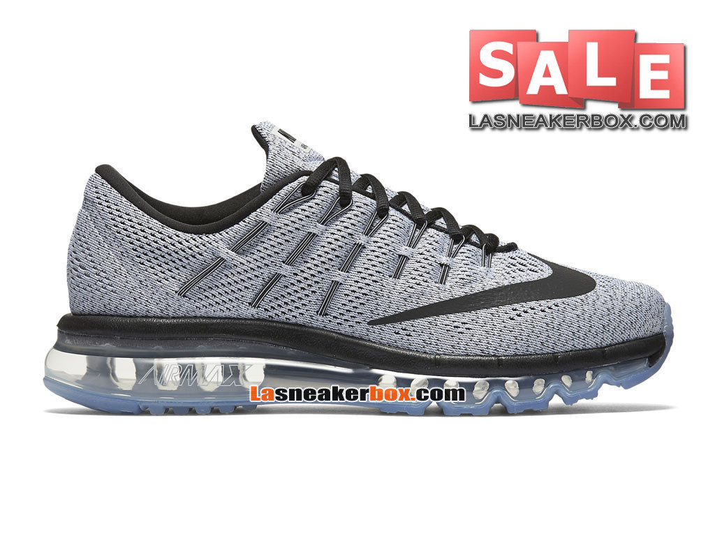 super popular 82c7e aad39 Nike Air Max 2016 - Chaussure Nike Running Pas Cher Pour Homme Blanc Noir  806771 ...