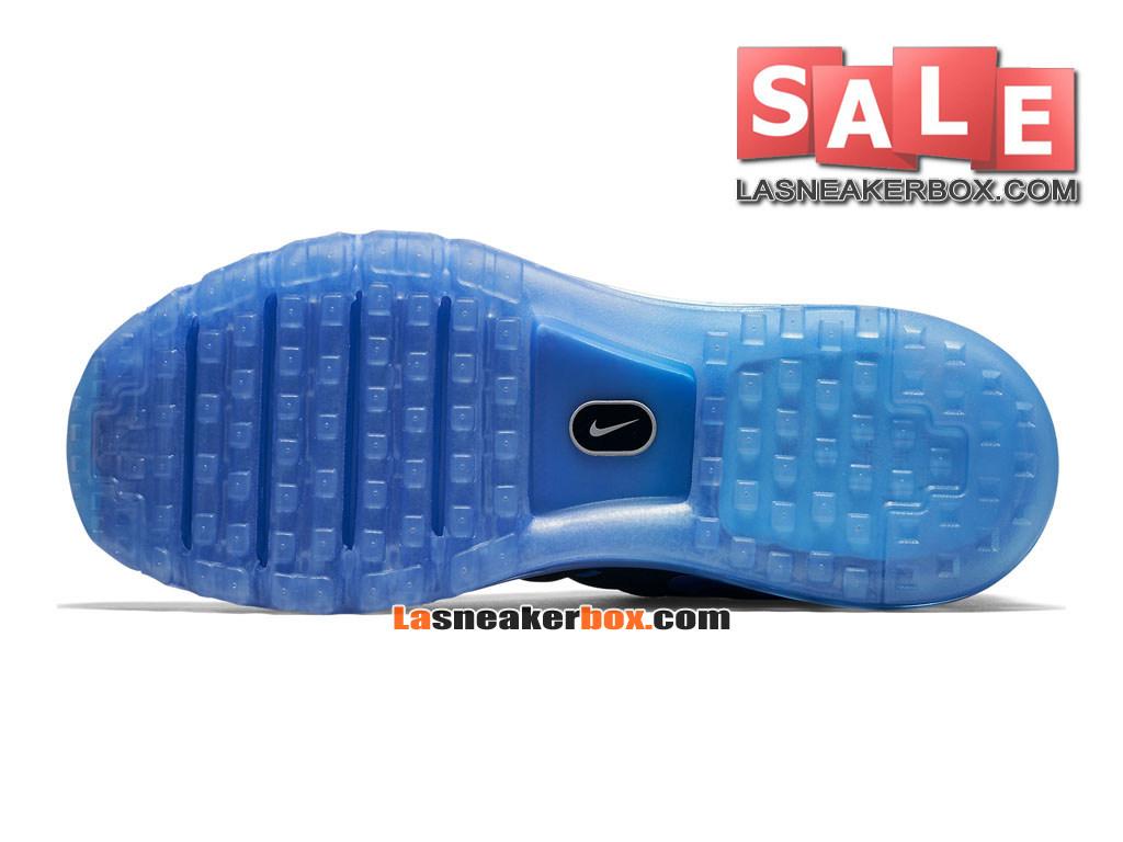 pretty nice 889da 8fe8d ... Nike Air Max 2016 - Chaussure Nike Running Pas Cher Pour Homme Noir Bleu  royal ...