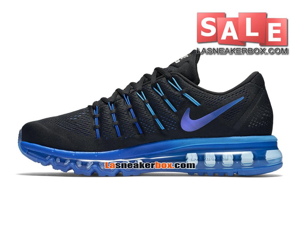 6db807c948f ... Nike Air Max 2016 - Chaussure Nike Running Pas Cher Pour Homme Noir Bleu  royal ...