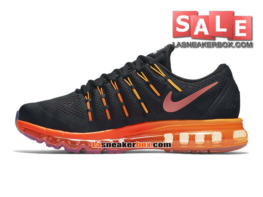 Nike Air Max 2016 - Chaussure Nike Running Pas Cher Pour Homme Noir/Rouge noble/Cramoisi total/Multicolore 806771-006