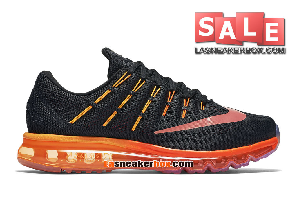 Nike Air Max 2016 - Chaussure Nike Running Pas Cher Pour Homme Noir/Rouge noble ...