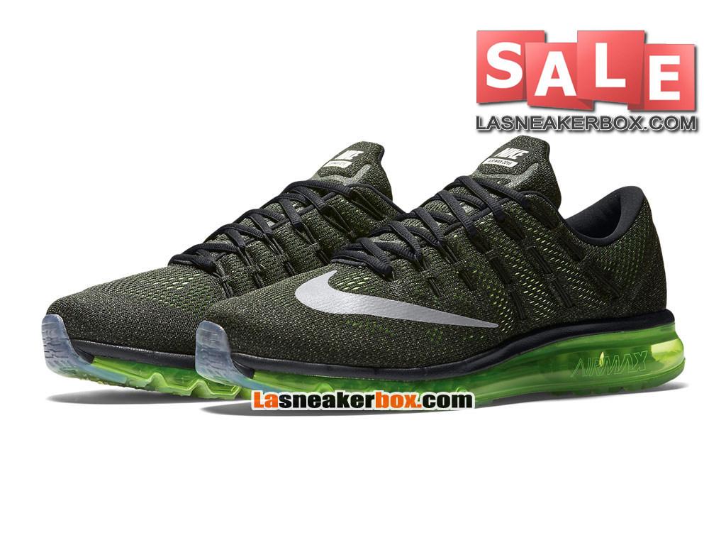 official photos 03f26 274c9 ... Nike Air Max 2016 - Chaussure Nike Running Pas Cher Pour Homme Noir Vert  électrique ...