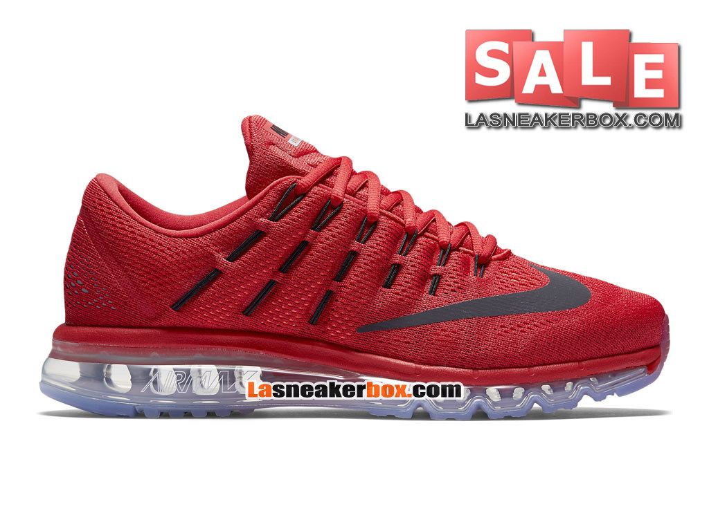 Nike Air Max 2016 - Chaussure Nike Running Pas Cher Pour Homme Rouge université/Rouge sportif/Cramoisi total/Noir 806771-601