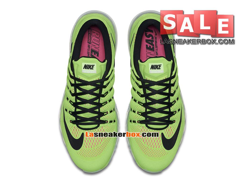 timeless design 19d8f a38e7 ... Nike Air Max 2016 - Chaussure Nike Running Pas Cher Pour Homme Vert  électrique Explosion ...