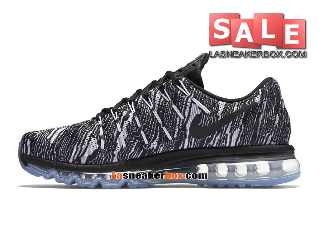 74a44a23454 ... Nike Air Max 2016 Print - Chaussure de Running Nike Pas Cher Pour Homme  Blanc  ...