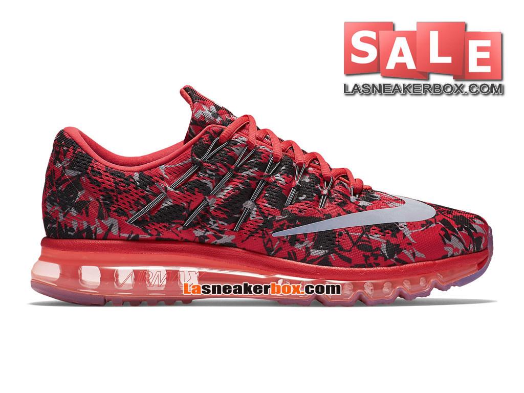 newest 11a4b 9a59f Nike Air Max 2016 Print - Chaussure de Running Nike Pas Cher Pour Homme  Cramoisi clair ...