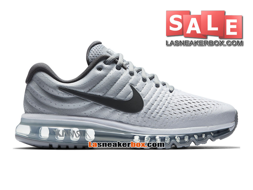 huge discount ecb82 f30a2 Nike Air Max 2017 - Chaussure de Nike Running Pas Cher Pour Homme Blanc Gris