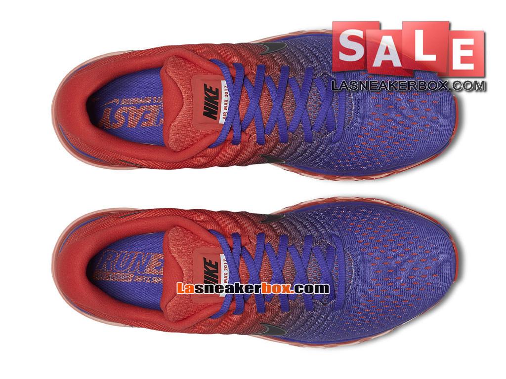 44eaf86d7b4 ... Nike Air Max 2017 - Chaussure de Nike Running Pas Cher Pour Homme Bleu  souverain  ...