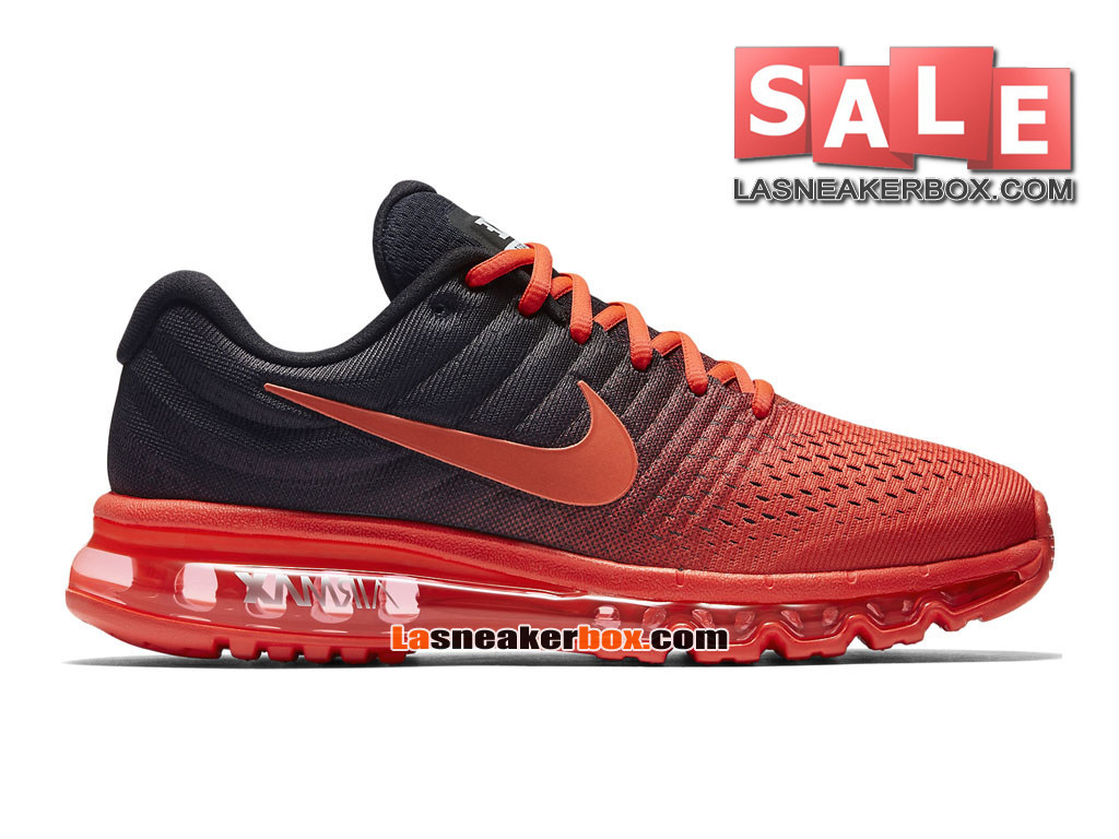 Nike Air Max 2017 - Chaussure de Nike Running Pas Cher Pour Homme Cramoisi brillant/Noir/Cramoisi total 849559-600