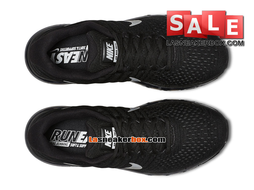 new product 28515 68f8f ... Nike Air Max 2017 - Chaussure de Nike Running Pas Cher Pour Homme Noir/ Anthracite ...
