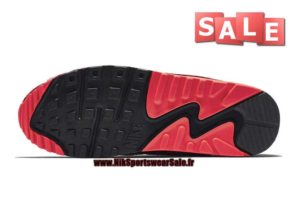 761680c80b5 ... Nike Air Max 90 Anniversary - Chaussure Nike Sportswear Pas Cher Pour  Homme Rouge sportif  ...